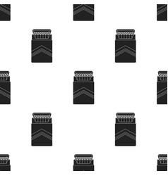 Pack of cigarettes icon in black style isolated on vector