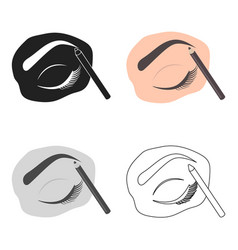 Painted eyebrows icon in cartoon style isolated on vector