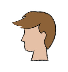 Profle man male cartoon person vector