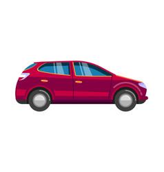 Red wageningen car sedan family sport automobile vector