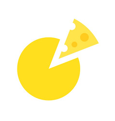 Round cheese food and gastronomy set flat icon vector