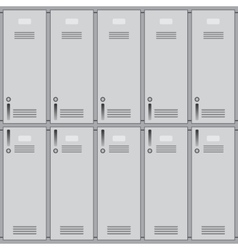 School or changing room lockers vector