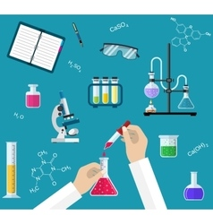 Science Experiment or chemistry laboratory concept vector image
