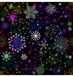 Seamless colorful christmas pattern vector