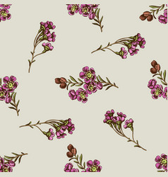 Seamless pattern with hand drawn colored wax vector