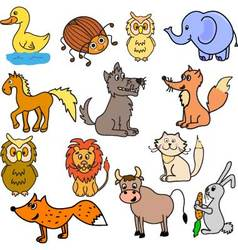 set of animals for babies vector image