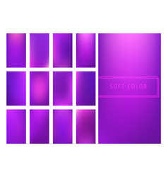 Set of soft purple gradients background vector