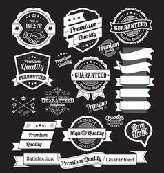 Set vintage badges and design elements vector
