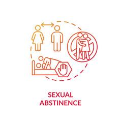 Sexual abstinence concept icon vector