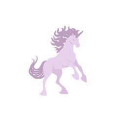 silhouette unicorn image vector image