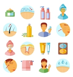Skin Care Icons Set vector