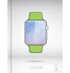 Smart watch isolated on white backround vector