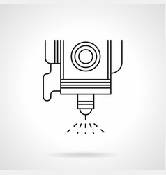spot welding flat line icon vector image