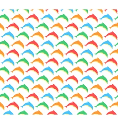 Summer pattern with dolphins isolated on white vector image