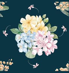 Thai flowers pattern seamless design vector