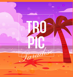tropical paradise background banner vector image