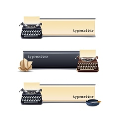 Typewriter Banners Set vector image