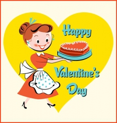Valentine cake vector