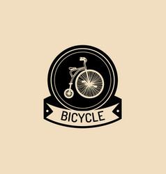 vintage hipster bicycle logo retro vector image