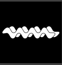 Wave the white color icon vector