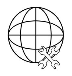 web icon cartoon vector image