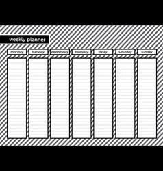 Weekly planner stripe grey color vector
