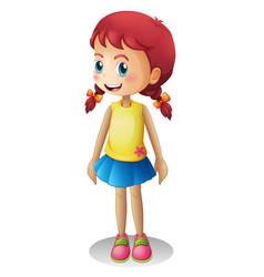 Young cute cartoon girl vector