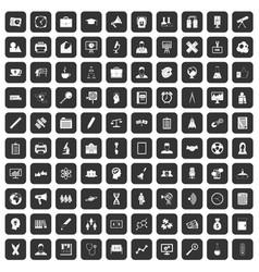 100 seminar icons set black vector