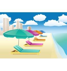 beach lounger vector image