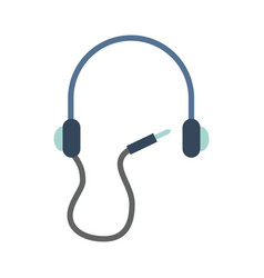 earphone device isolated icon vector image vector image