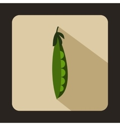 Fresh green peas icon flat style vector image vector image
