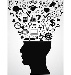 human head with creative ideas vector image