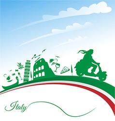 Italian holidays background vector image