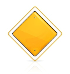 Priority road sign vector image vector image