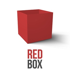 Realistic Red Box isolated on white background vector image