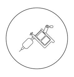 tattoo machine icon outline single tattoo icon vector image