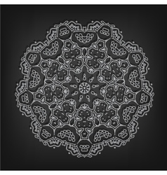vintage circle pattern in Victorian style vector image