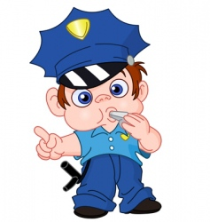 young policeman vector image vector image