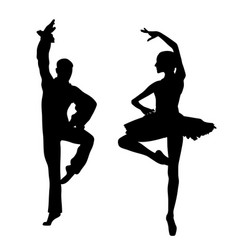 couple ballet dancers vector image