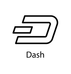 dash icon for internet money crypto currency vector image