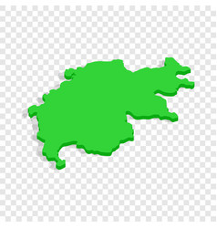 map isometric icon vector image