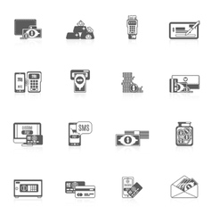 Payment Icon Set vector image