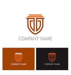 shield guarantee secure logo vector image