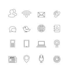 Communication Icons Outline vector image vector image