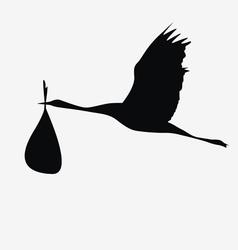 crane with a bag vector image