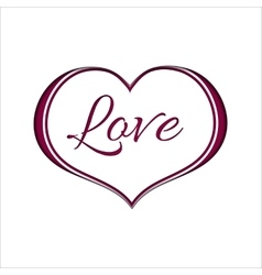 Pink Heart on White Background for a Valentine Day vector image vector image