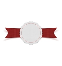 White blank Label on red Ribbon vector image