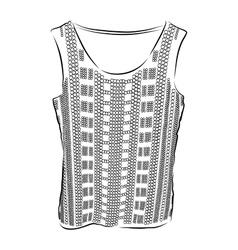 Beautiful top shirt summer blouse vector image vector image