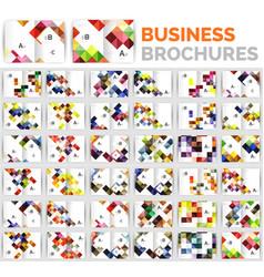 mega set of business brochure design templates vector image