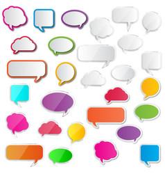 A collection comic style speech bubbles vector
